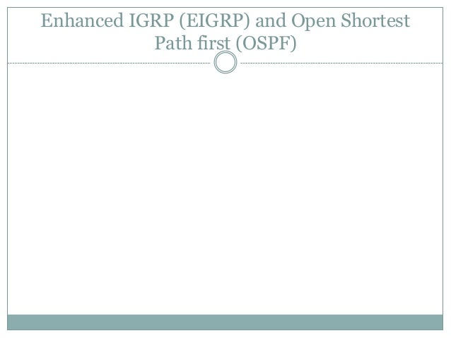 13. eigrp and ospf