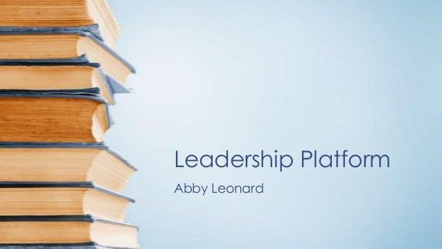 Leadership Platform Abby Leonard