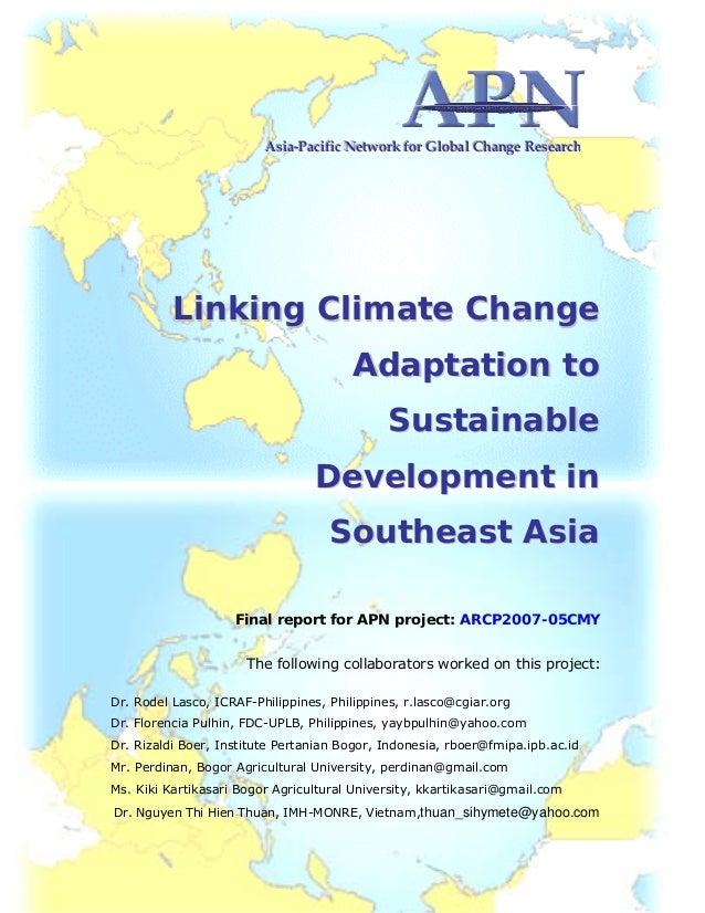 Linking Climate Change Adaptation in Sustainable Development in Southeast Asia i AAAsssiiiaaa‐‐‐PPPaaaccciiifffiiiccc NNNe...