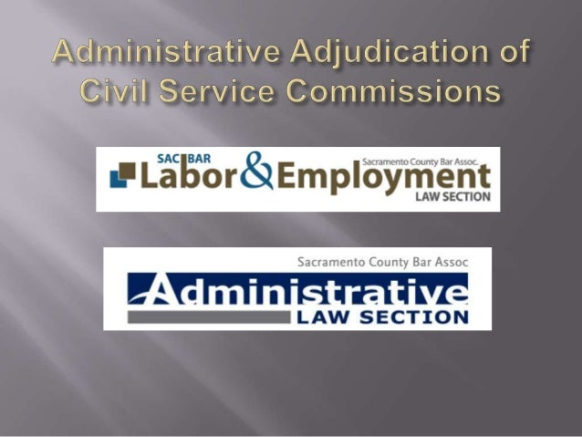 Administrative Adjudications by Civil Service Commissions in the State of California
