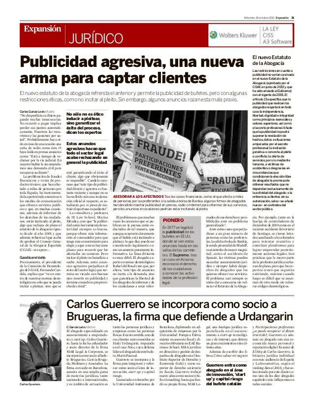 Carlos Guerrero se incorpora como socio a Brugueras (Expansión)