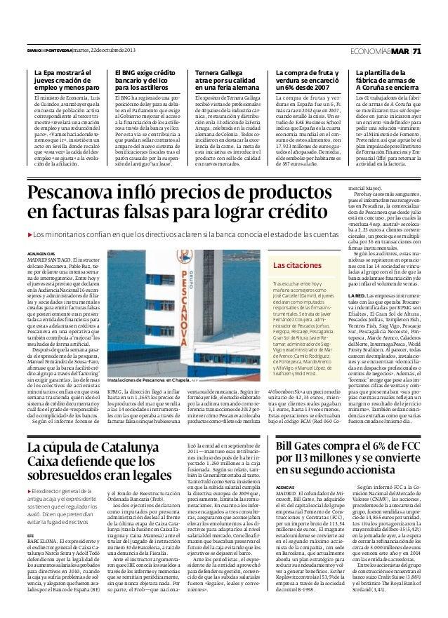 El gasto en alimentos básicos (Diario de Pontevedra)