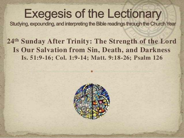 13.11.10 exegesis   trinity 24