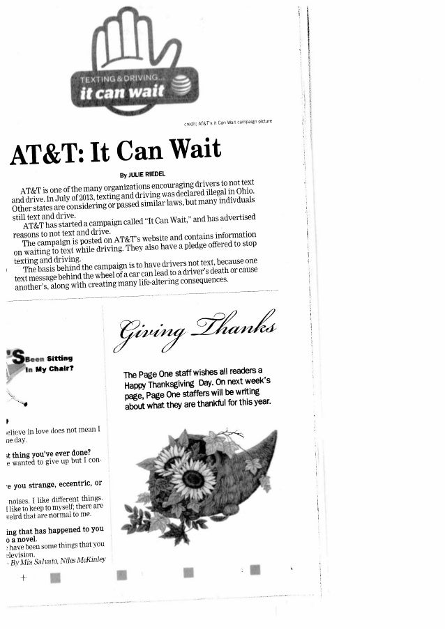 13.11.25 warren tribune chronicle   it can wait