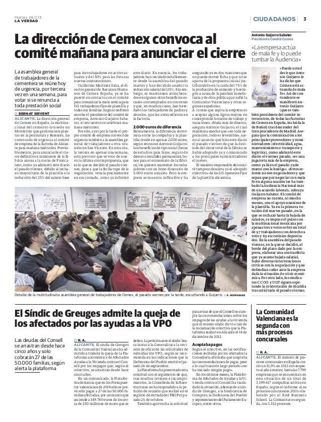 Concurso de acreedores (La Verdad de Alicante)