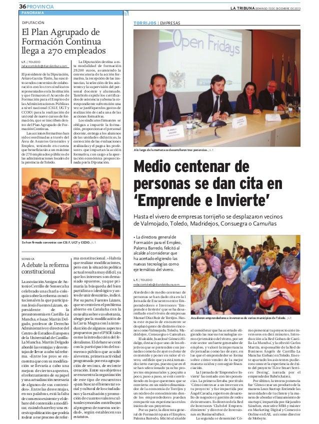 Emprende e invierte (La Tribuna de Toledo)