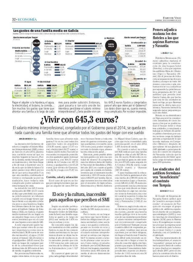 El gasto en ocio y cultura (El Faro de Vigo)