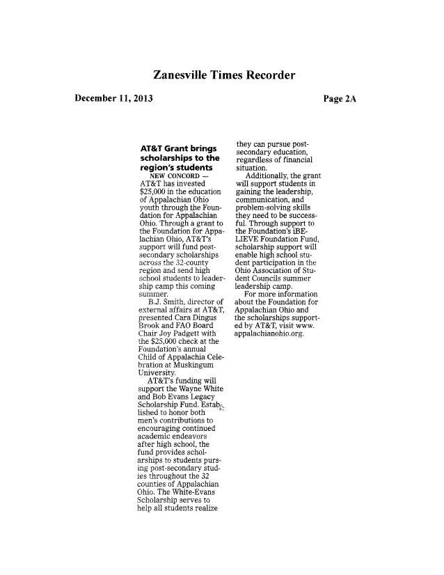 13.12.11 zanesville times recorder   fao contribution
