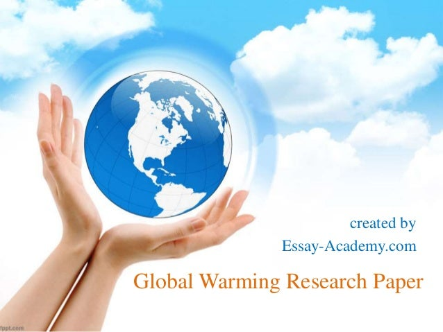 research paper of global warming