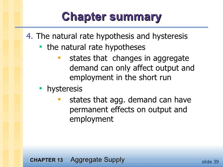 A question about natural output hypothesis - why is it stuck?