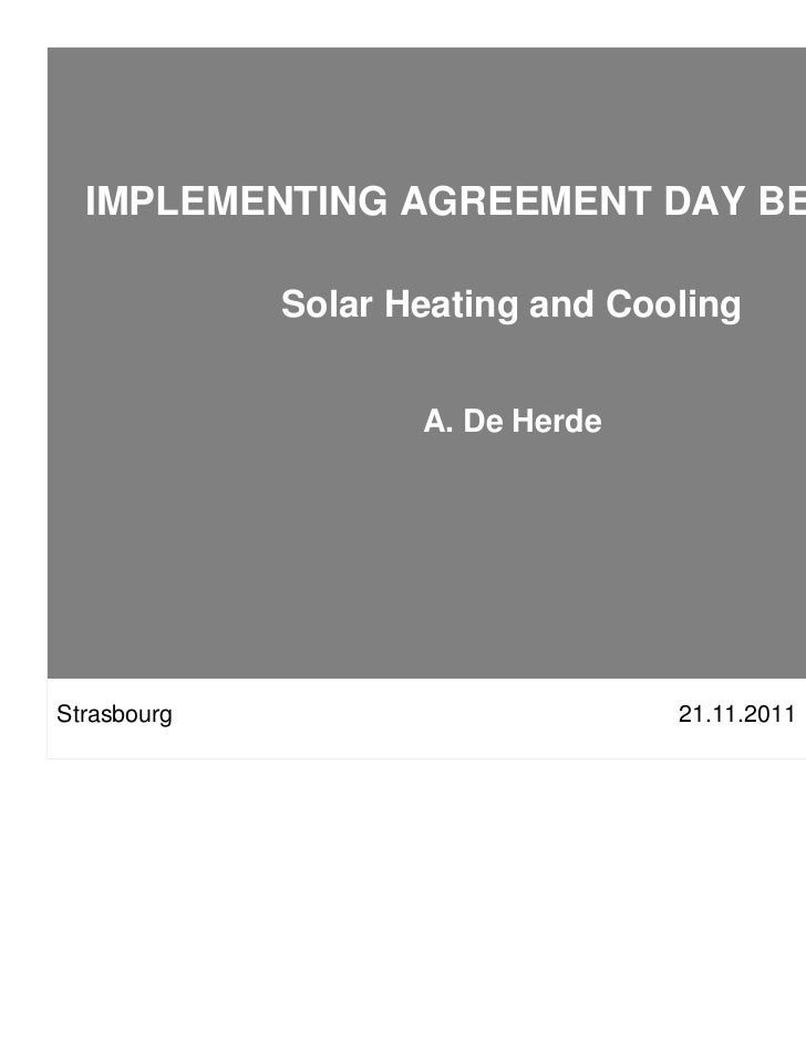 13. andré de herde   shc - solar heating and cooling