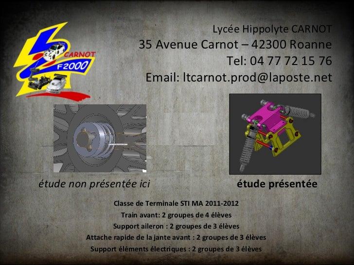 Lycée Hippolyte CARNOT                         35 Avenue Carnot – 42300 Roanne                                         Tel...
