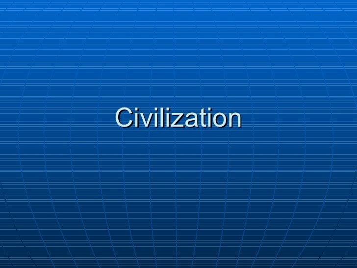 1.3 - Civilization