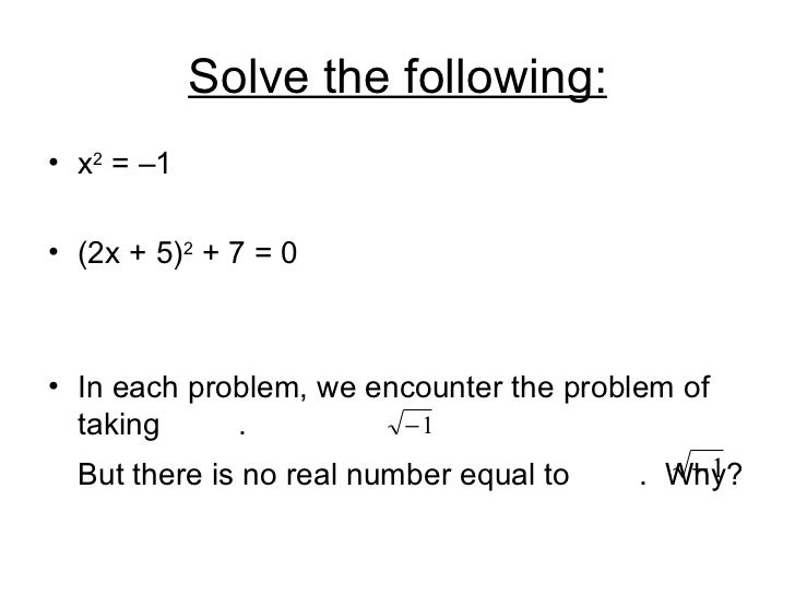 How To Solve Problems With Imaginary Numbers