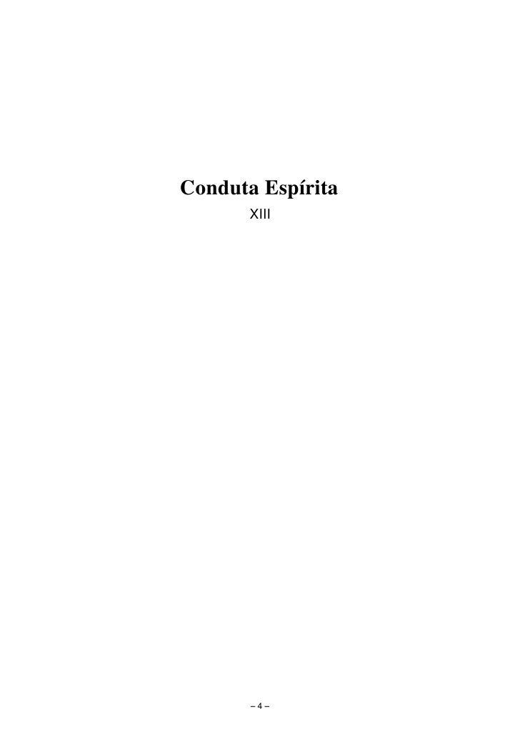 Conduta Espírita        XIII            −4−