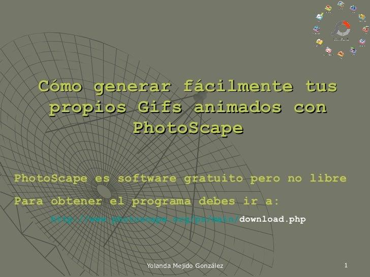 Crear gifs animados con photo scape