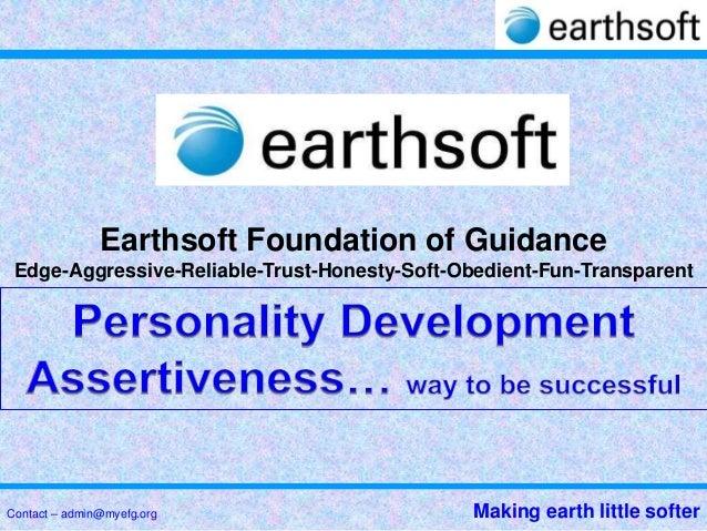 13 earthsoft foundation of guidance-assertiveness