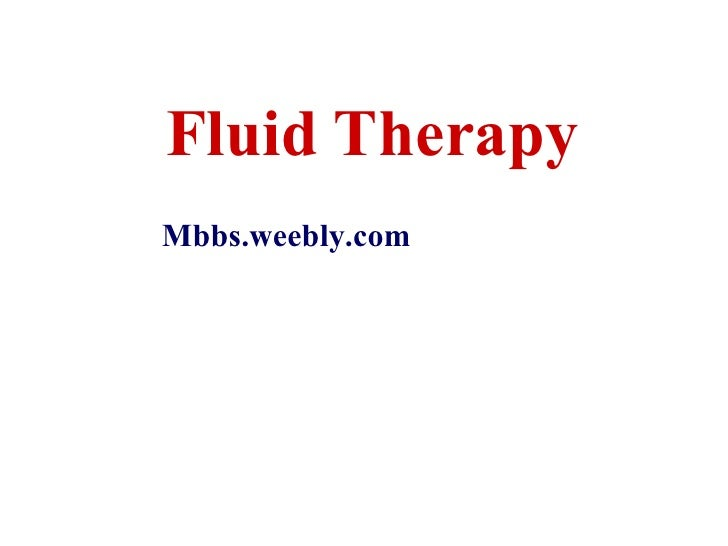13 Fluid Therapy