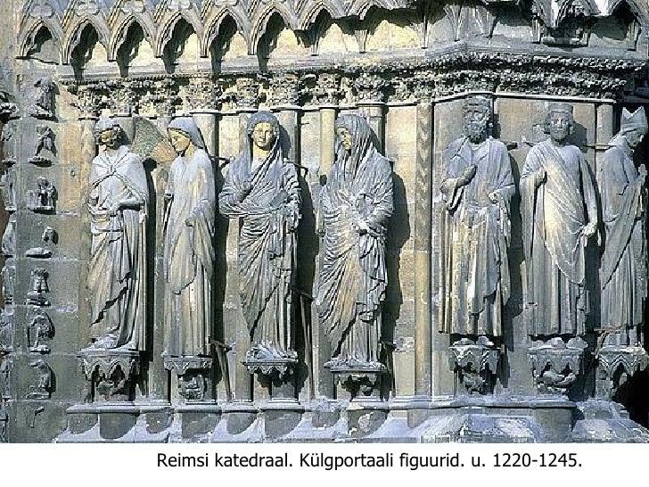 Reimsi katedraal.   Külgportaali figuurid. u. 1220-1245.