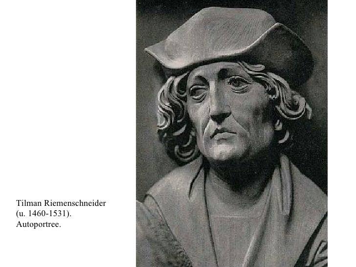 Tilman Riemenschneider  (u. 1460-1531). Autoportree.