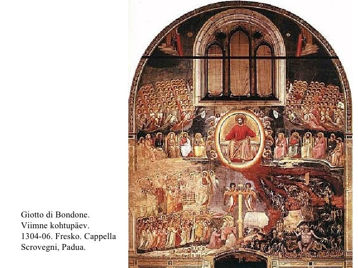 Giotto di Bondone. Viimne kohtupäev. 1304-06. Fresko. Cappella Scrovegni, Padua.