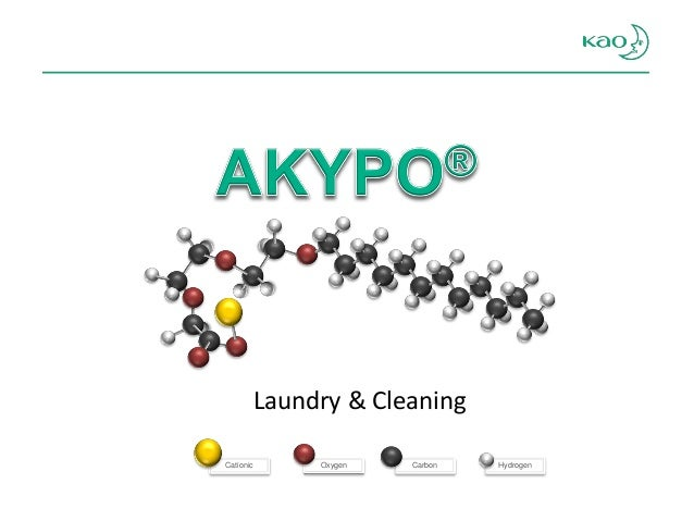Oxygen  Cationic  Hydrogen  Carbon  Laundry & Cleaning