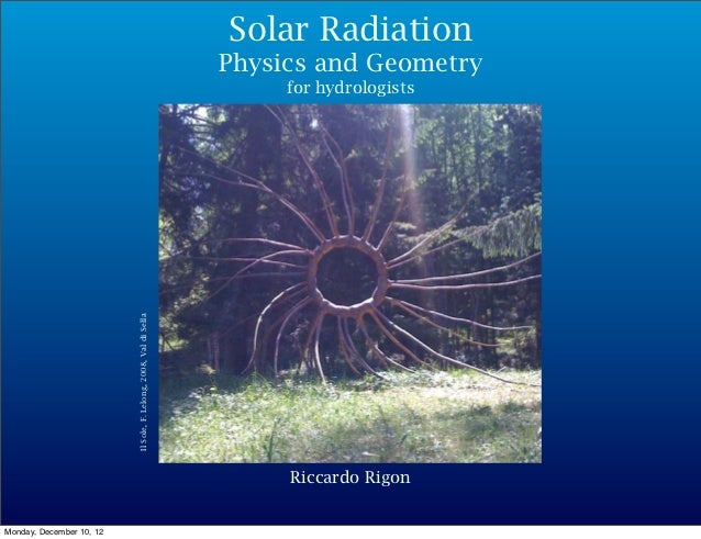 Solar Radiation                                                                   Physics and Geometry                    ...