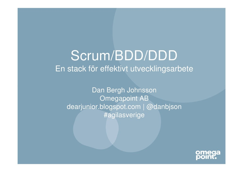 Scrum/BDD/DDD - en stack för effektivt utvecklingsarbete