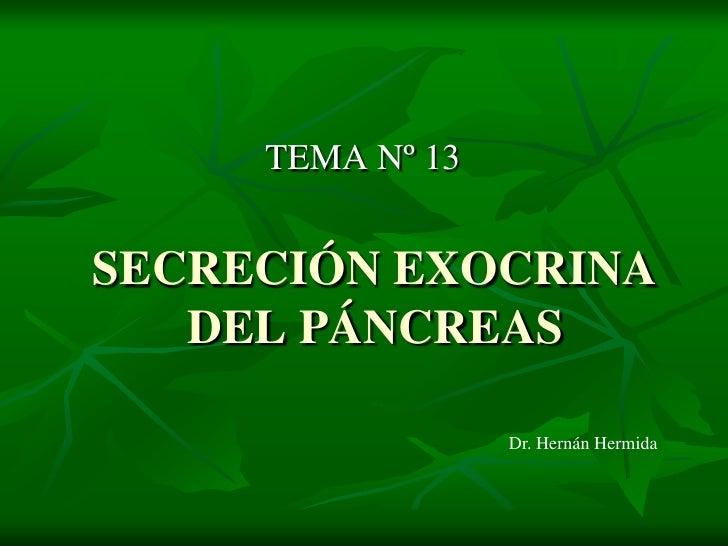 Secreción exocrina del páncreas
