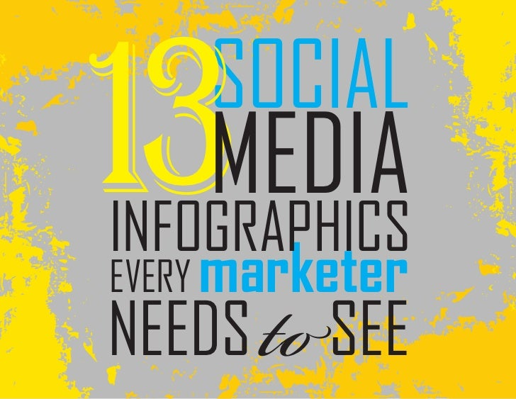 13MEDIA    SOCIALINFOGRAPHICSEVERY marketerNEEDS     SEE