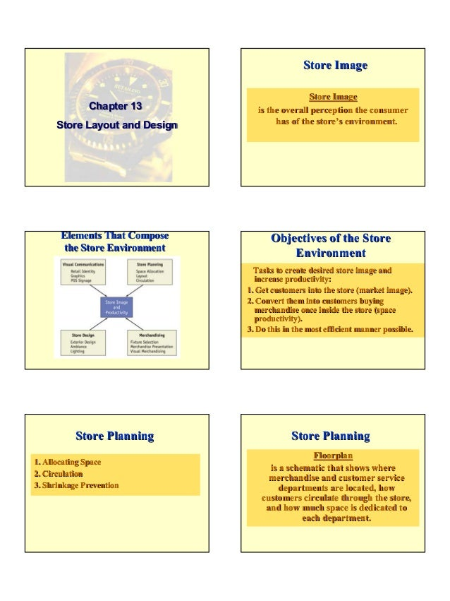 1Chapter 13Store Layout and DesignChapter 13Store Layout and DesignStore ImageStore Imageis the overall perception the con...