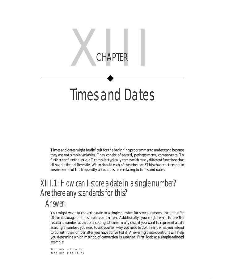 Chapter XIII      • Times and Dates       243                    XIII              CHAPTER                   Times and Dat...