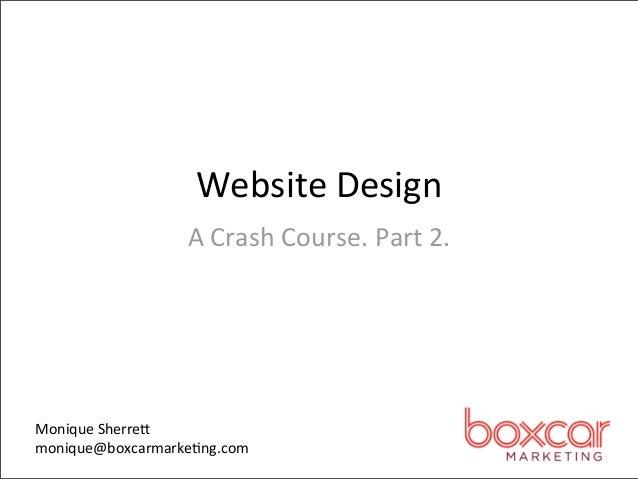 Tech 802: Web Design Part 2
