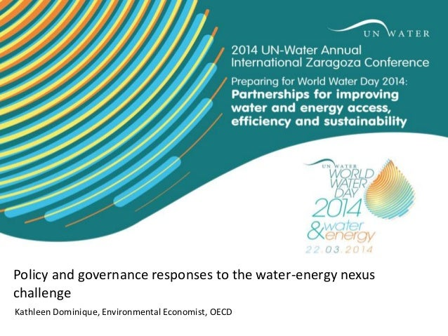 Policy and governance responses to the water-energy nexus challenge Kathleen Dominique, Environmental Economist, OECD
