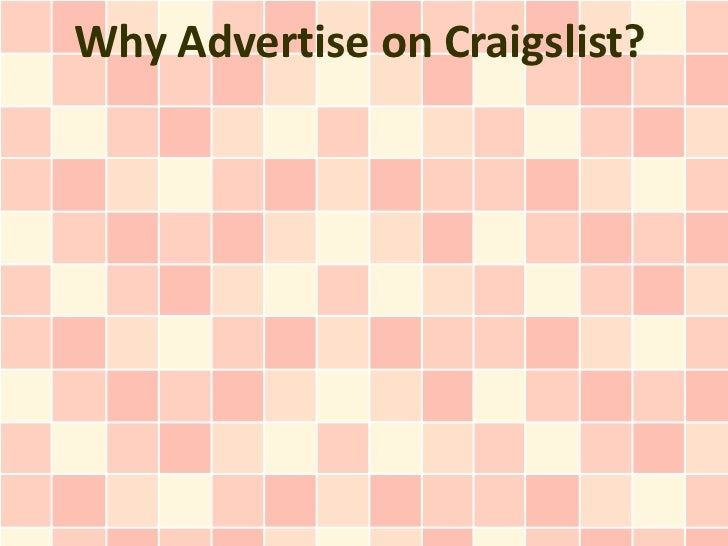 Why Advertise on Craigslist?