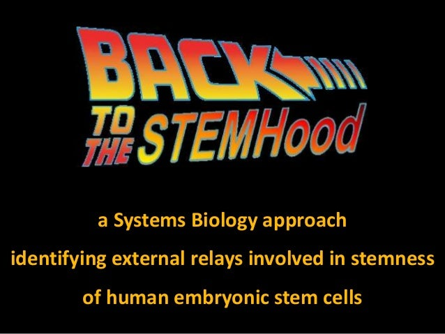 Back to the stemhood (teaser talk)