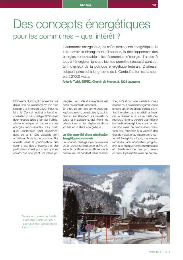 SEREC                                                         19Des concepts énergétiquespour les communes – quel intérêt ...