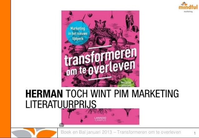 Boek en Bal - januari 2013 - Transformeren om te overleven