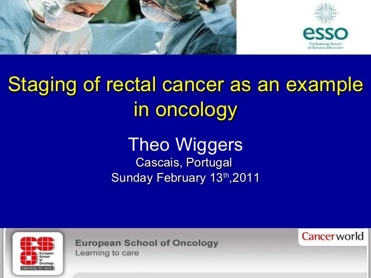 Department of Surgery, University Medical Center Groningen Staging of rectal cancer as an example in oncology Theo Wiggers...
