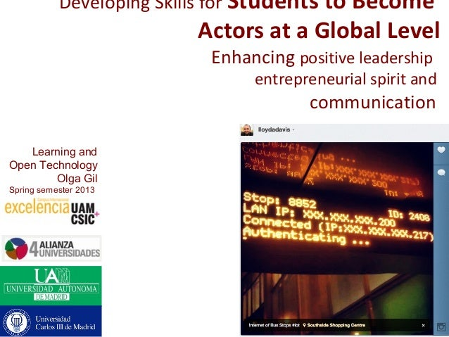 Developing Skills for Students to Become                         Actors at a Global Level                           Enhanc...