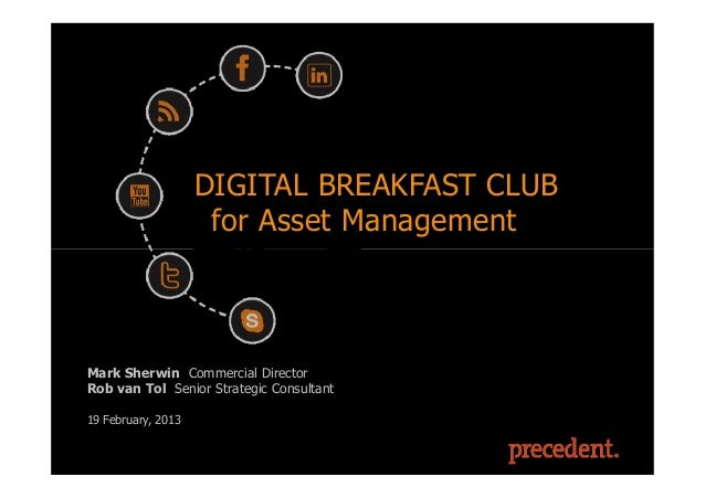 Asset Management Networking Breakfast 19 February 2013