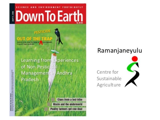 RamanjaneyuluLearning from Experiencesof Non PesticidalManagement in Andhra        Centre forPradesh                     S...