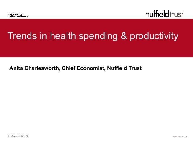 Anita Charlesworth: Trends in health spending & productivity