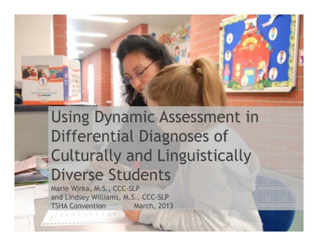 """Dynamic assessment has been shown to be """"one of the few strategies available for differentiating those students who do not..."""