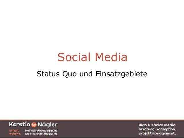 Social MediaStatus Quo und Einsatzgebiete