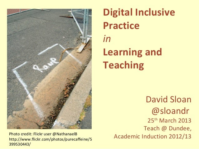 Digital Inclusive Practice in Learning and Teaching