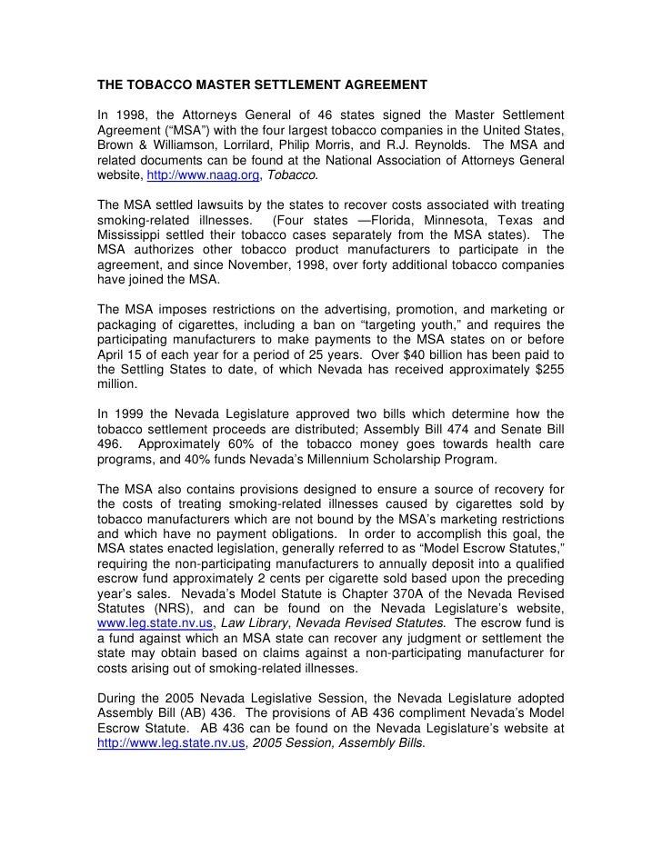 Tax Settlement Tax Settlement Legislation