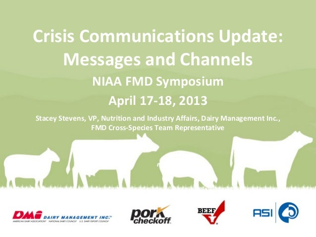 Ms. Stacey Stevens - Crisis Communications Update: Messages and Channels