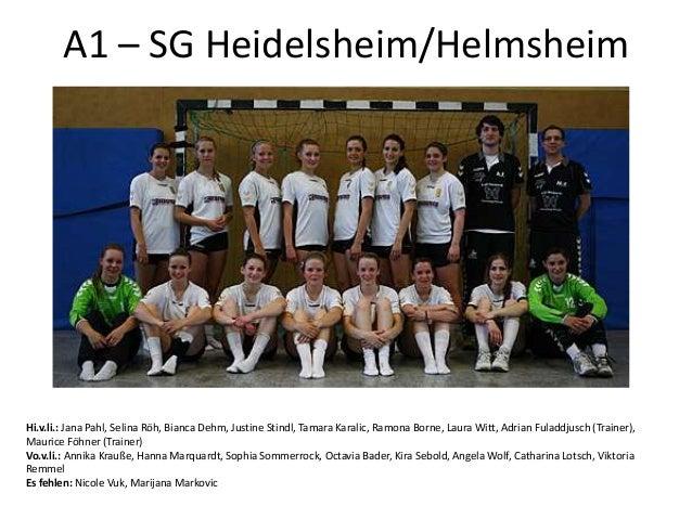 Hi.v.li.: Jana Pahl, Selina Röh, Bianca Dehm, Justine Stindl, Tamara Karalic, Ramona Borne, Laura Witt, Adrian Fuladdjusch...