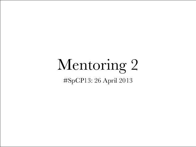 Mentoring 2